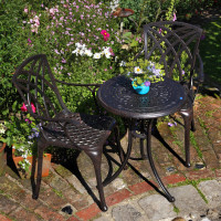 Ella Bistro Table - Antique Bronze (2 seater set)