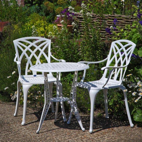 Ivy Bistro Table - White (2 seater set)