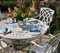 Alice Table - White (6 seater set)