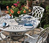 Alice Table - White (6 seater set)