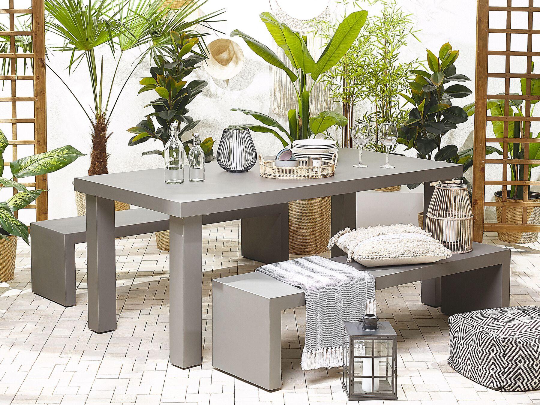Belaini 4 Seater Concrete Garden Furniture