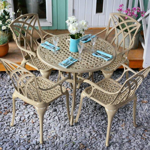 Hannah Table - Sandstone (4 seater set)