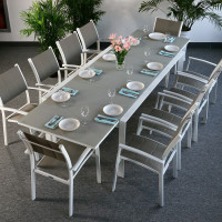 Violet Table - White & Champagne (10 seater set)