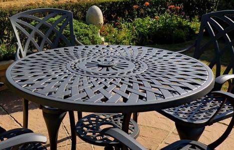 How To Re Weathered Metal Garden, Large Cast Aluminium Garden Bench
