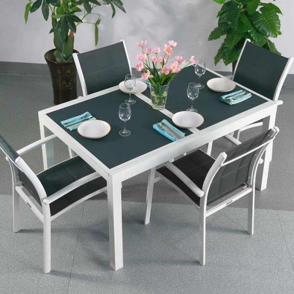 Daisy Table - White & Grey (4 seater set)