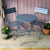 2 x Alessia Bistro Chair - Grey