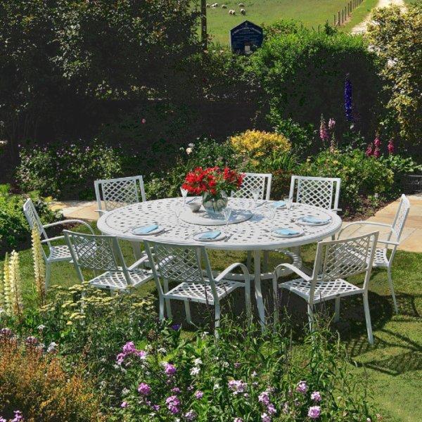 Rosemary Table - White (8 seater set)
