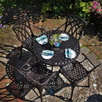 Mia Table - Antique Bronze (4 seater set)