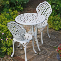 Ivy Bistro Set - White (2 seater set)