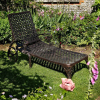 Amber Lounger - Antique Bronze