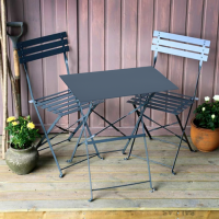 Zara Bistro Set (Table & 2 Chairs) - Grey