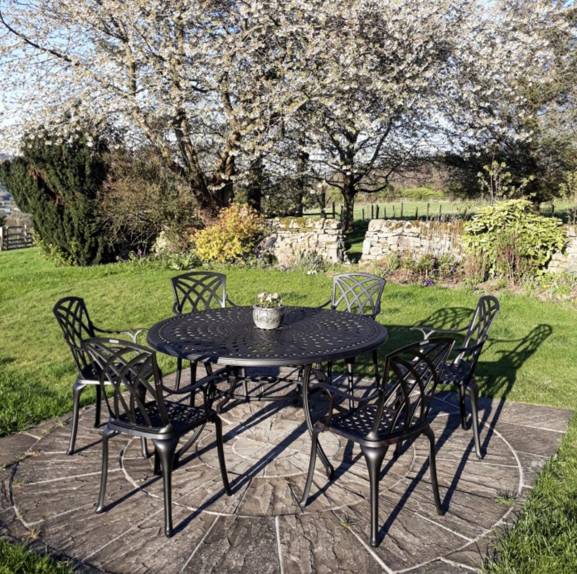 Frances Round Garden Table