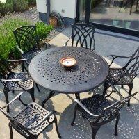 Amy Table - Antique Bronze (6 seater set)
