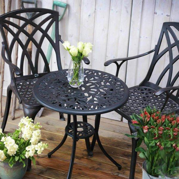 Tulip Bistro Table - Antique Bronze (2 seater set)