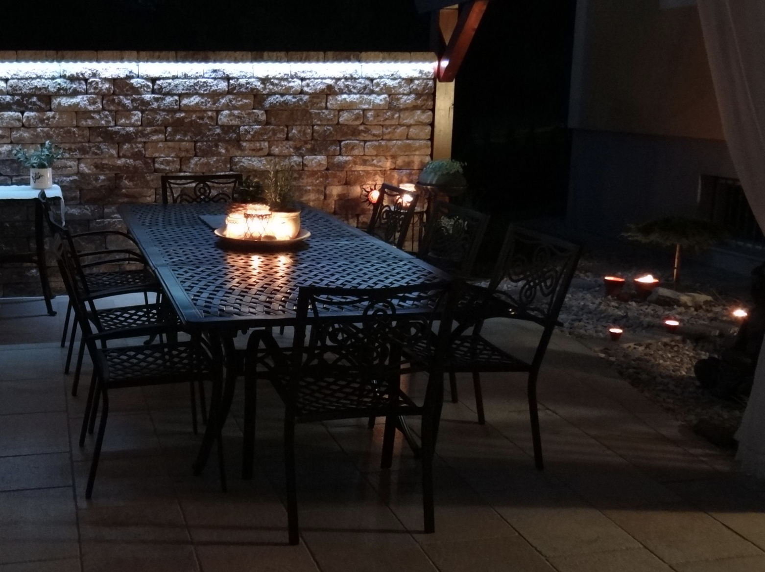 Garden Table with Candles