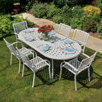 Catherine Table - White (8 seater set)