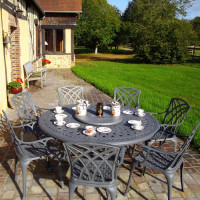 Frances Table - Slate (8 seater set)