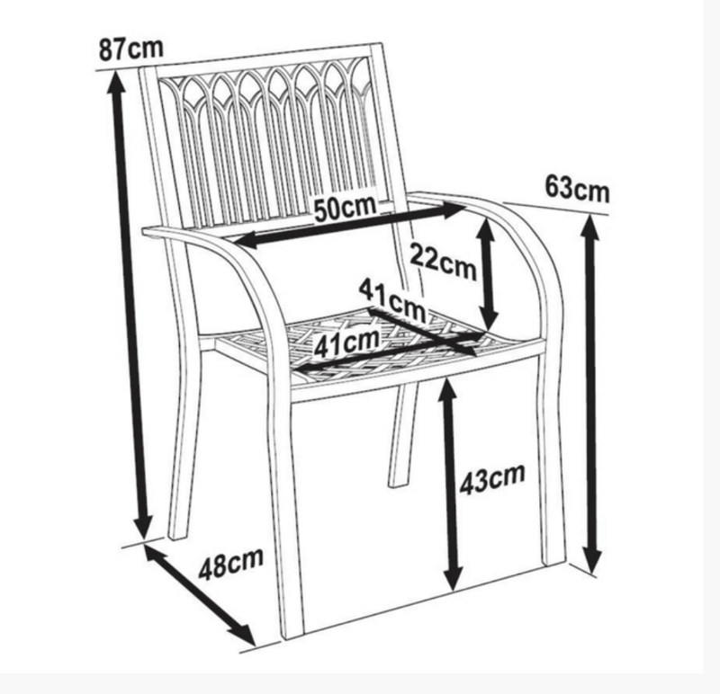 Mary Garden Chair Dimensions