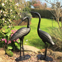 Crane Pair - Antique Bronze