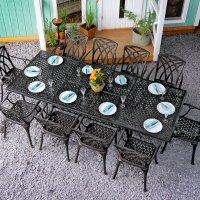 Vanessa Table - Antique Bronze (10 seater set)