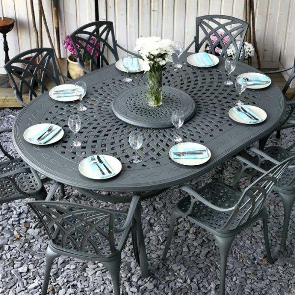 Gloria Table - Slate (8 seater set)