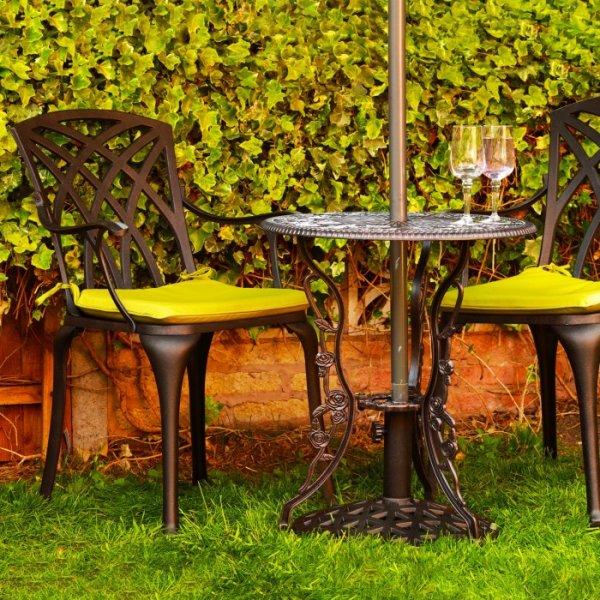 London Rose Table - Antique Bronze (2 Seater Set)