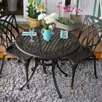 Hannah Table - Antique Bronze (2 seater set)
