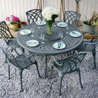 Frances Table - Slate (6 seater set)