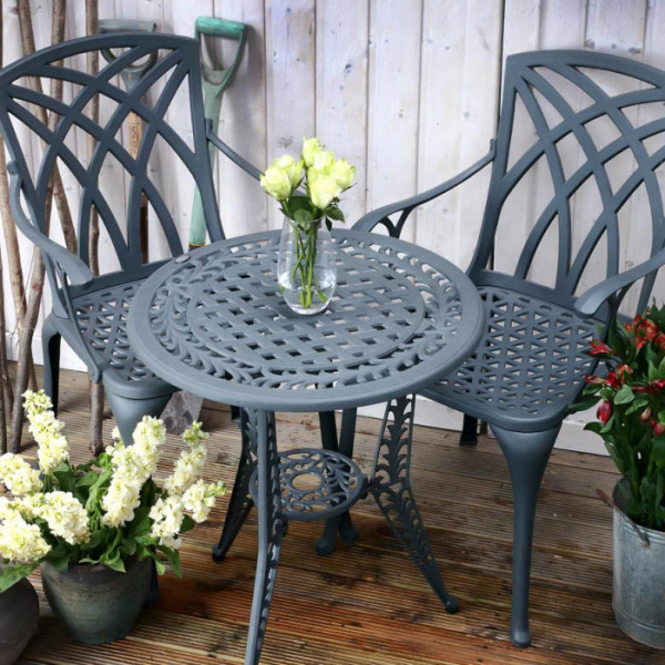 Ivy Bistro Table - Slate (2 seater set)