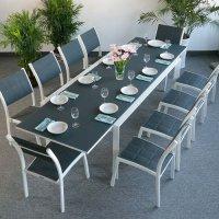 Violet Table - White & Grey (10 seater set)
