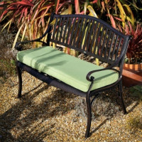 Lattice Bench Cushion - Green