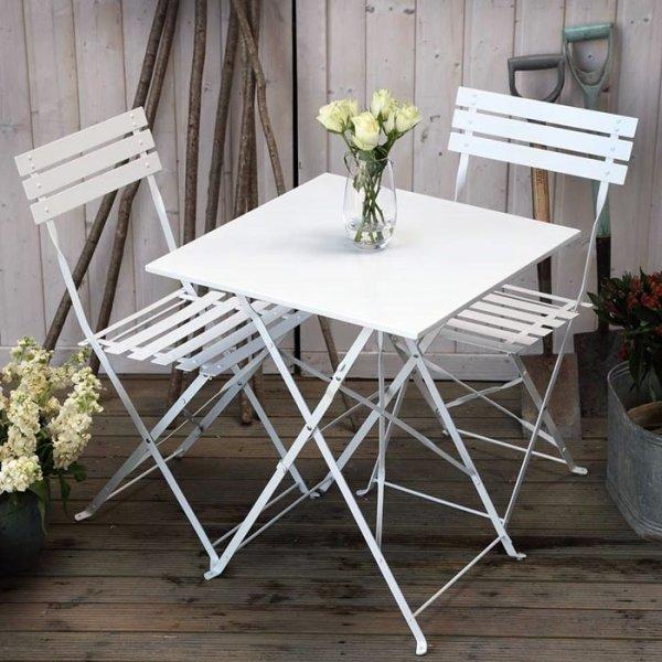 Zara Bistro Set - White (2 seater set)