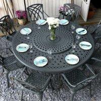 Olivia Table - Slate (8 seater set)
