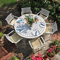 Frances Table - White (6 seater set)