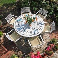 Frances Table - White (6 seater set)