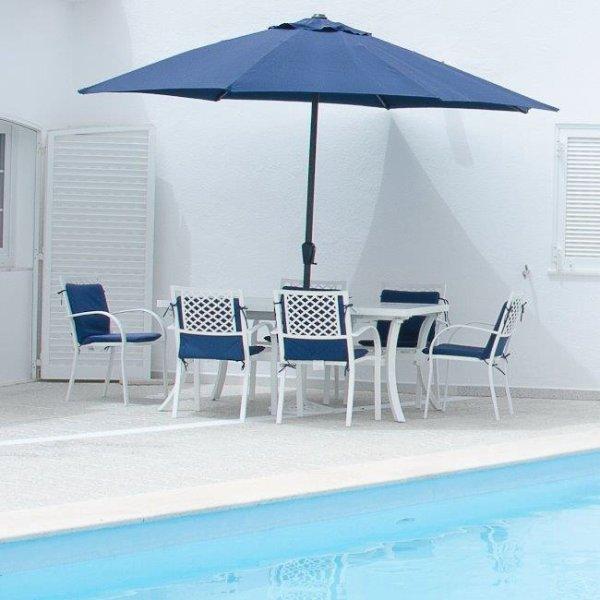 Brigitte Table - White (8 seater set)