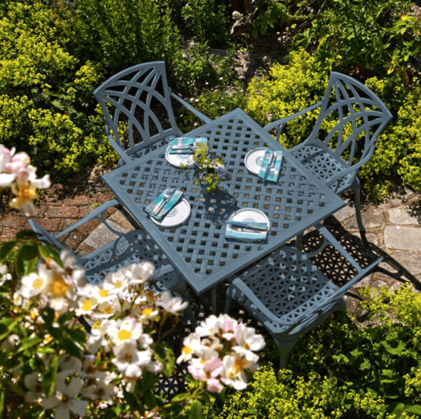 Lucy Table - Slate Grey (4 seater set)