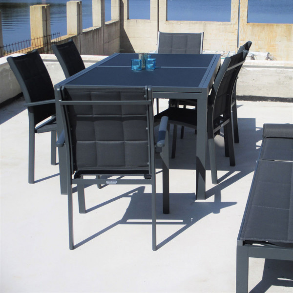 Florence Table - Grey (6 seater set)