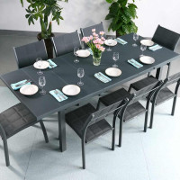 Beatrice Table - Grey (8 seater set)