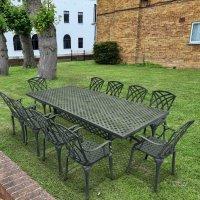 Madison Table 2.6m - Slate Grey (10 seater set)