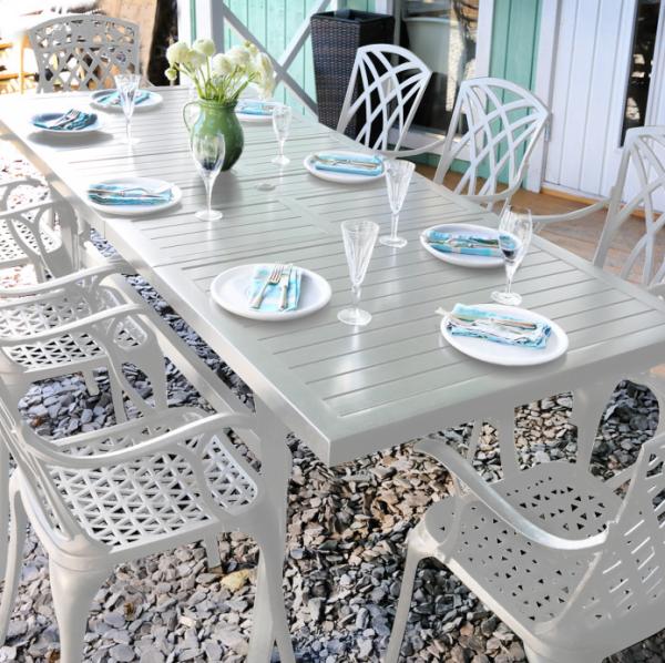 Deborah Table - White (12 seater set)