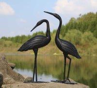 Crane Pair - Antique Bronze