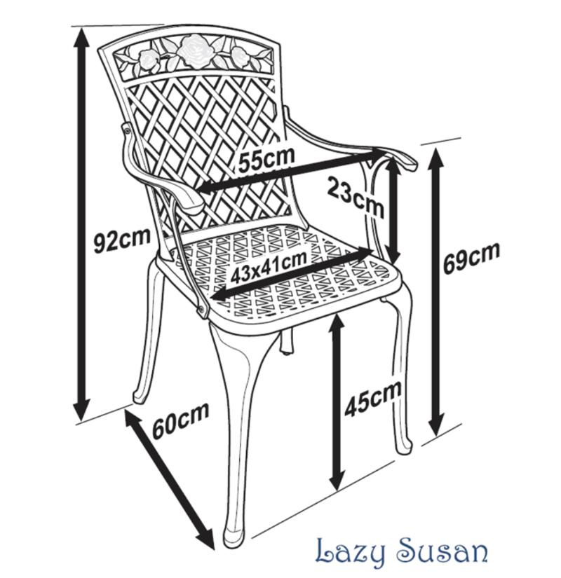 Rose Garden Chair Dimensions