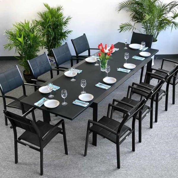 Violet Table - Black (10 seater set)