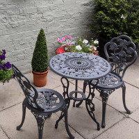 London Rose Bistro Set - Slate (2 Seater Set)