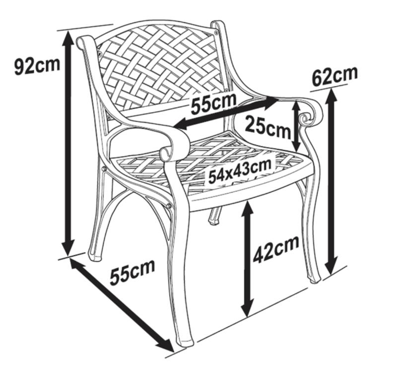 Kate Garden Chair Dimensions