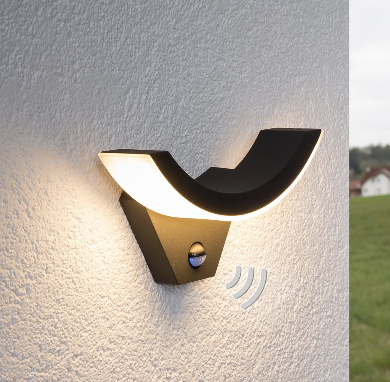 Lucande LED Garden Security Lights with Motion Detection