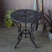 London Rose Table only - Antique Bronze