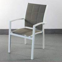 Georgia Chair - White & Champagne