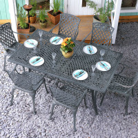 Vanessa Table - Slate Grey (10 seater set)